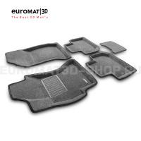 Текстильные 3D коврики Euromat3D Business в салон для Subaru Forester (2012-2018) № EMC3D-004709G Серые