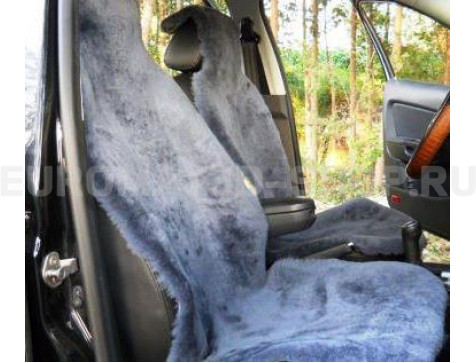 Накидка на сиденья автомобиля из искусственного меха Euromat Tex (серая) № EUSH-004002