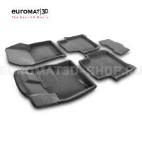 Текстильные 3D коврики Euromat3D Business в салон для Skoda Kodiaq (2017-) № EMC3D-004512G Серые