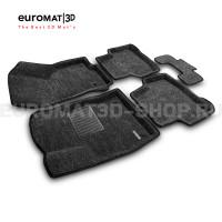 Текстильные 3D коврики Euromat3D Business в салон для Volkswagen Passat B8 (2016-) № EMC3D-004510G Серые