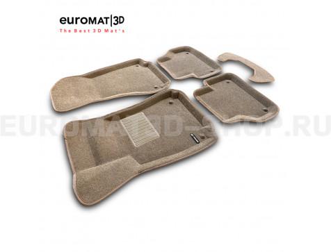 Текстильные 3D коврики Euromat3D Business в салон для Audi A5 (2016-) Sportback № EMC3D-001102T Бежевые
