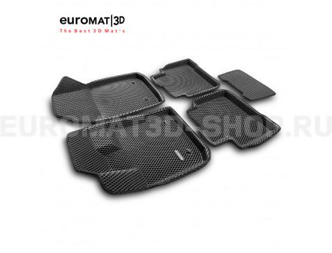 3D коврики Euromat3D EVA в салон для Geely Tugella FY11 (2020-) № EM3DEVA-001408