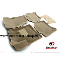 Текстильные 3D коврики Euromat3D Business в салон для VOLKSWAGEN Touareg (2010-) № EMC3D-004101T Бежевые