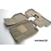 Текстильные 3D коврики Euromat3D Business в салон для SKODA Octavia A7 (2013-) № EMC3D-004507T Бежевые