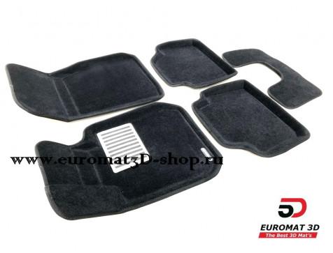 Текстильные 3D коврики Euromat в салон для BMW 3 (F30) (2010-) № EM3D-001202
