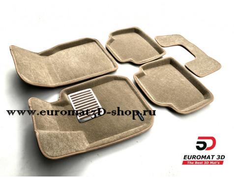 Текстильные 3D Коврики Euromat В Салон Для BMW 3 (F30) (2010-) № EM3D-001202T Бежевые