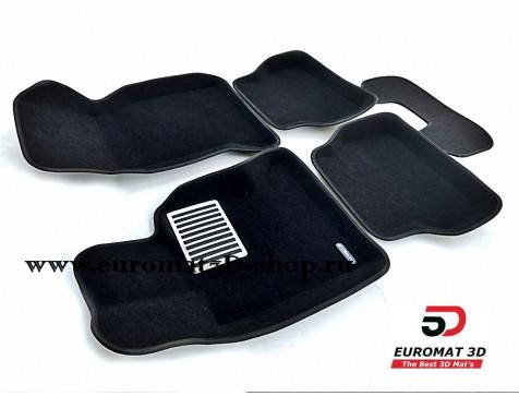 Текстильные 3D коврики Euromat в салон для BMW 5 (E39) (1995-2003) № EM3D-001204