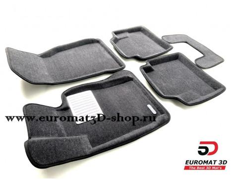 Текстильные 3D коврики Euromat в салон для BMW 4 (F32/33) (2012-) № EM3D-001221G Серые